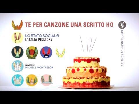 , title : 'Te per canzone una scritto ho - Lo stato sociale (indie videoclip)'