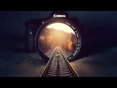 rail inside illusion photomanipulation tutorial by rafy