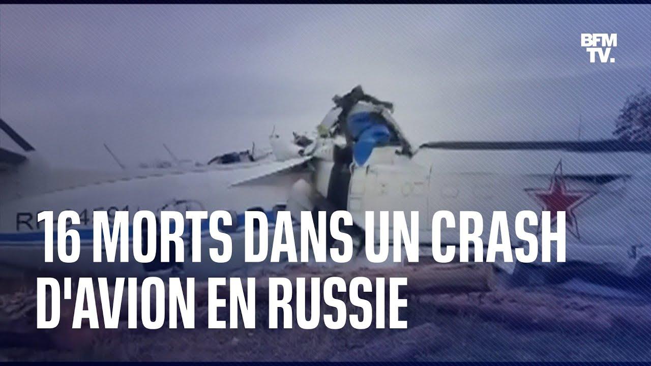 Un avion se crashe et se brise en deux dans le centre de la Russie, un bilan fait état de 16 morts