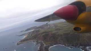 preview picture of video 'Aurigny Air Services Britten-Norman Trislander G-JOEY departing Alderney bound for Southampton'