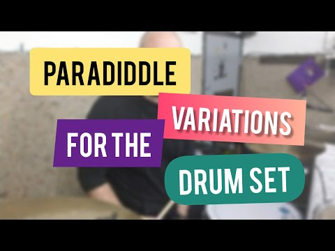 A sample lesson on paradiddles around the drum set in beginner, intermediate and advanced variations.