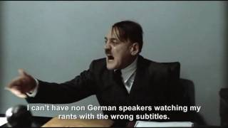 Hitler is informed the subtitles are wrong