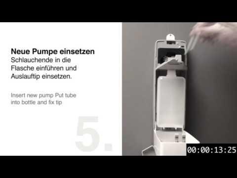 Dermados® touchless – Anleitung zum Pumpenwechsel