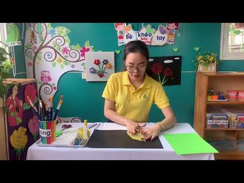 Hướng dẫn trẻ tạo hình từ màng xốp hơi