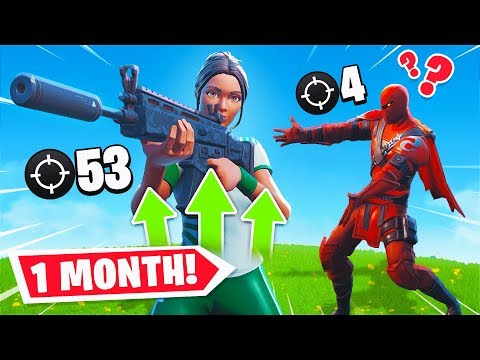 1 Month Progression From PS4 to PC (Controller to Keyboard & Mouse) Fortnite Battle Royale