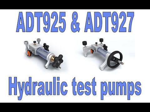 Additel ADT925 and ADT927 High Pressure Hydraulic Pumps