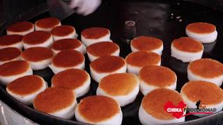 Amazing Chinese Street Food - Crispy Steamed Rice Cake - Video Youtube