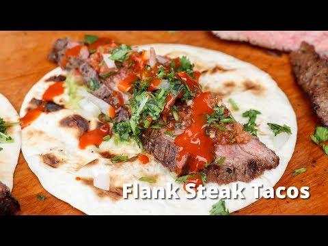Flank Steak Tacos Recipe   Grilled Flank Steak on Santa Maria Style Grill