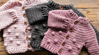 How To Crochet A Bobble Baby Sweater