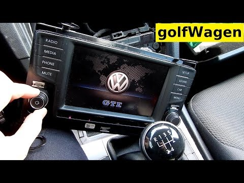 VW Golf 7 how to removal radio