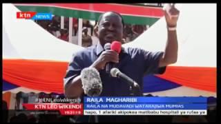 Raila Odinga akejeli miradi ya Rais Uhuru katika eneo la magharibi mwa Kenya akisema kuwa haitafaulu