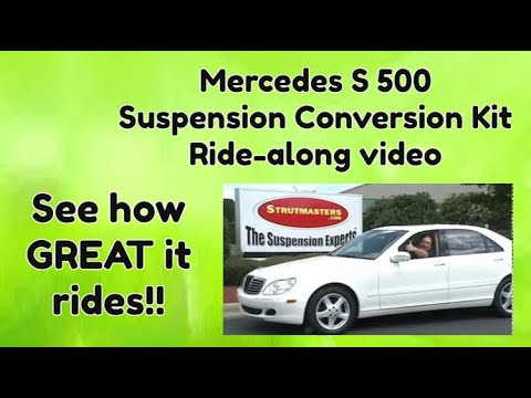 Suspension Mercedes | S 500 With An Air Suspension Conversion By Strutmasters / Ride Along Video