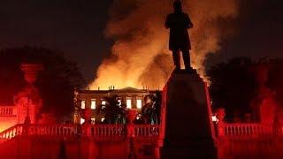 Incêndio atinge Museu Nacional do Rio de Janeiro