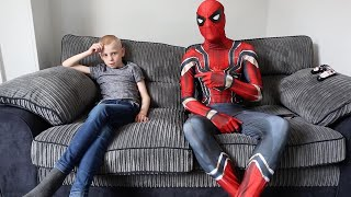 Dad Transforms Into Spiderman For Autistic Son