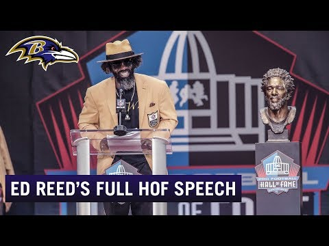 Ed Reed's Hall of Fame Speech