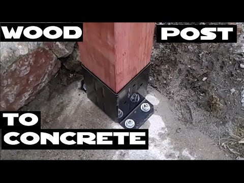 How to attach wood posts / railing to concrete with Simpson Strong Tie E-Z Base