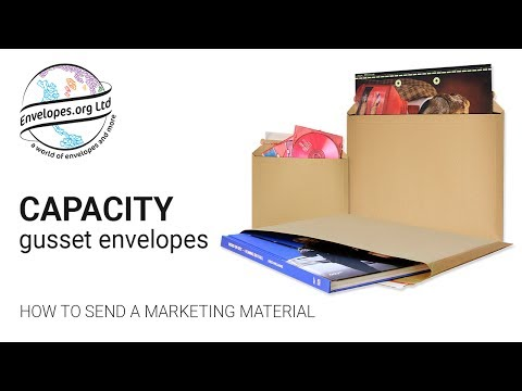 Capacity gusset envelopes: How to send a marketing material