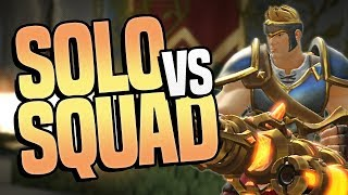 SOLO VS SQUADS (BIG KILLS) with WARRIOR! | Realm Royale