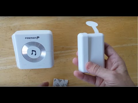 Fosmon Wireless Door Entry Alert - Instructions and Review - B+ to A-