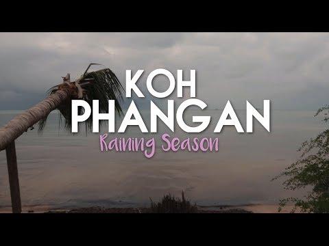Raining Season! Koh Phangan - Backpacking with a Baby - Thailand vlog #2