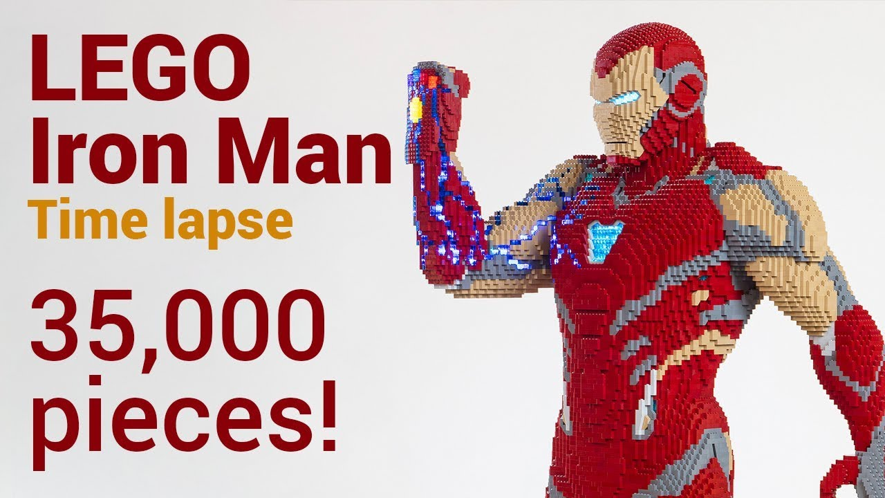 This life-size LEGO Iron Man from Avengers: End Game uses 35,000 pieces!