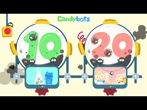 Candybots Numbers 123 - Learn counting 10 to 20 number - Education Apps for Kids