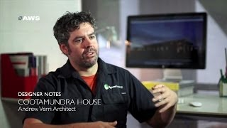 Designer Notes, Cootamundra House - Andrew Verri