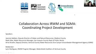 IRWM SGMA Collaboration across project development