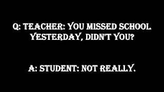 Funny Jokes To Tell Your Teacher
