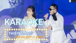 Karaoke Thiên Đàng WOWY ft JOLIPOLI beat chuẩn có giọng nữ | Kent D