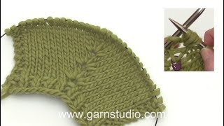 How to knit in stitch below and how to increase 4 or 2 stitches