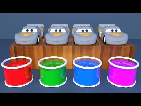 Learn Colors with Lightning Mcqueen Surprise Soccer Balls #h   Magic Liquids for Children Toddlers