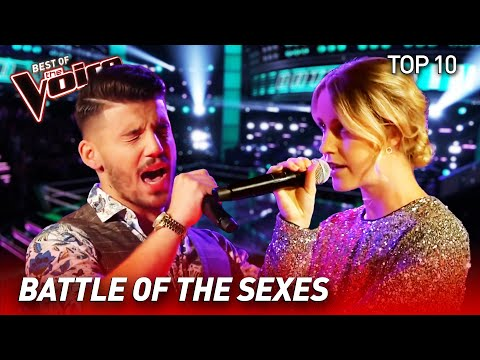 TOP 10 | BOY-GIRL DUETS in The Voice