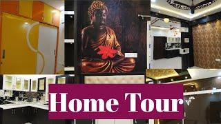 Home Tour || Interior Design For 2bhk Flat || Indian Home Tour ||Home Tour In Telugu