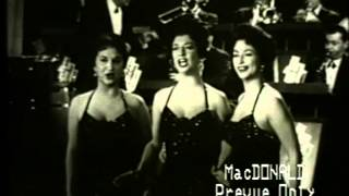 DeCastro Sisters, Harry James--Teach Me Tonight, Heartbreak Hotel, 1957