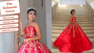 I Made  My Client Debut Panel Ball Gown - Aprilyns 18th Birthday | Vlog #2