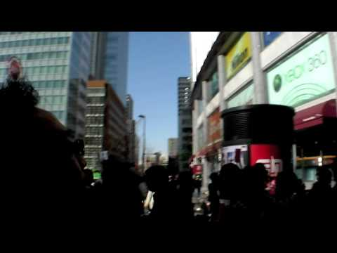 Toshiba's Digital Billboard Lets Japanese Pedestrians Interactively Game Using Their Mobile Phones