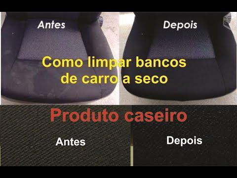 Limpar os bancos do carro