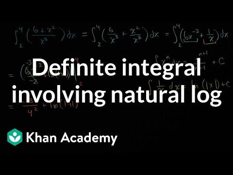 Definite integral involving natural log (video) | Khan Academy