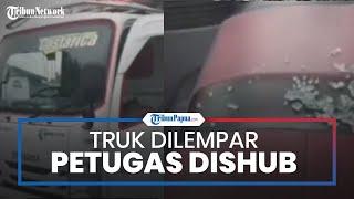Viral Video Truk Dilempar Petugas Dishub hingga Kaca Pecah, Petugas Sebut Gara-gara Kesalahpahaman