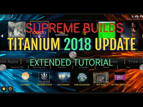 TITANIUM BUILD V3 3 FOR KODI 17 6 FROM THE SUPREME BUILDS WIZARD