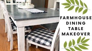 🌿FARMHOUSE DINING TABLE MAKEOVER | DIY FARMHOUSE TABLE MAKEOVER | DINING ROOM TABLE DIY🌿