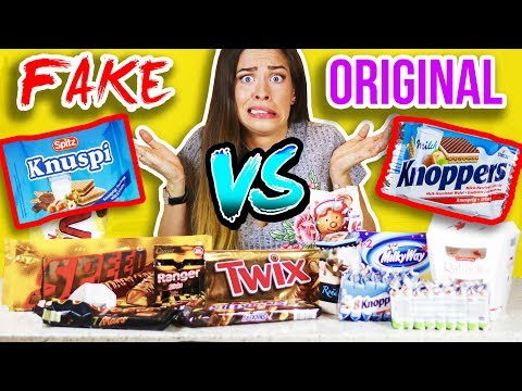 FAKE vs. ORIGINAL SÜßIGKEITEN im TEST! 😵 🍫 Lidl & Aldi vs. Marken | Billig vs teuer