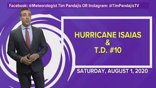Tropics Update: Hurricane Isaias moves through the Bahamas; heads toward Florida coast