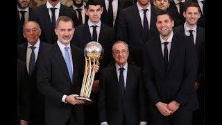 S.M. el Rey recibe a los jugadores del Real Madrid de baloncesto