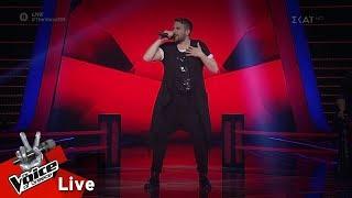Αποστόλης Διαμαντόπουλος - 7 Rings | 1o Live | The Voice of Greece