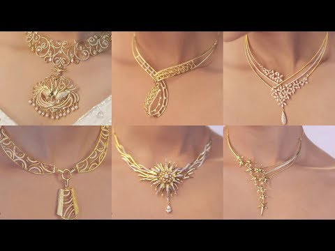Latest Gold & Diamond Bridal Set and Casual wear necklaces designs Movies