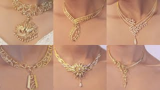 Latest Gold Diamond Bridal Set And Casual Wear Necklaces Designs Movies