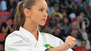 【4K】ブラジルの空手女神 Powerful and beautiful Karate from Brazil