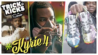 The Best Sneaker Artist In The WORLD! Sierato Makes FIRE Custom Kyries For FILAYYYY 🔥